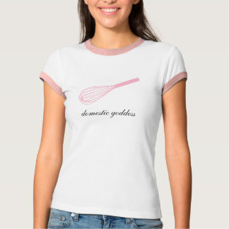 Domestic goddess pink whisk ringer tee