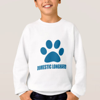 DOMESTIC LONGHAIRED CAT DESIGNS SWEATSHIRT