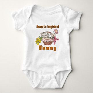 Domestic longhaired Cat Mom Baby Bodysuit