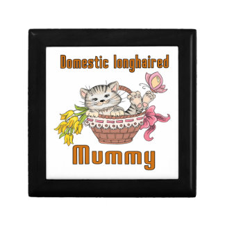 Domestic longhaired Cat Mom Gift Box