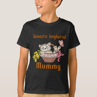 Domestic longhaired Cat Mom T-Shirt