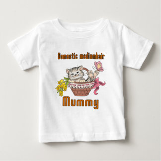 Domestic mediumhair Cat Mom Baby T-Shirt