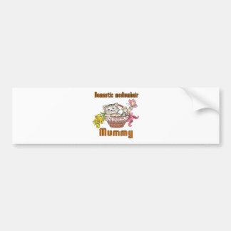 Domestic mediumhair Cat Mom Bumper Sticker