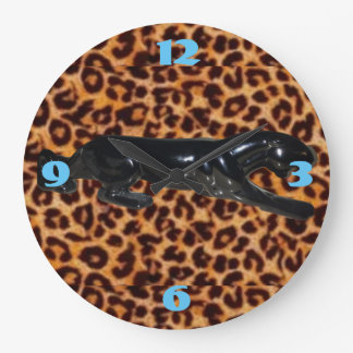 Domestic Not Basic Leopard Print Beatnik Clock