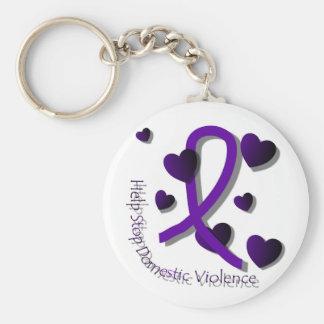 Domestic Violence Awareness Keychain