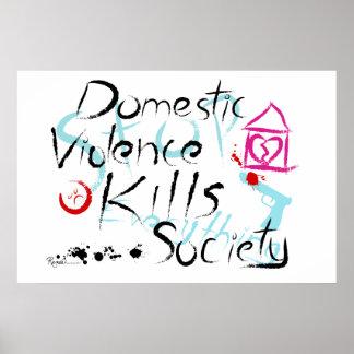 Domestic Violence Kills Society Poster
