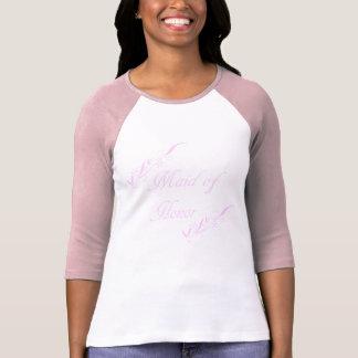 """""""Domestique chemise florale rose d'honneur"""" T-shirts"""