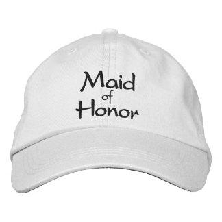 Domestique de casquette brodé d'honneur casquette brodée