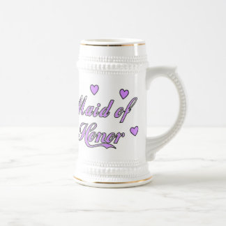 Domestique des coeurs de mariage d'honneur tasse à café