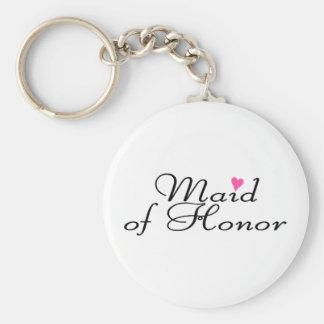 Domestique d'honneur porte-clé rond