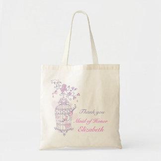 Domestique rose pourpre de mariage d oiseau de sac