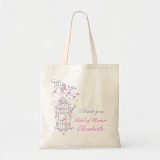 Domestique rose pourpre de mariage d'oiseau de sac