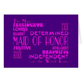 Domestiques des faveurs de noce d'honneur : Qualit Carte De Vœux