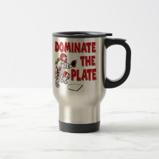 DOMINATE THE PLATE 15 OZ STAINLESS STEEL TRAVEL MUG