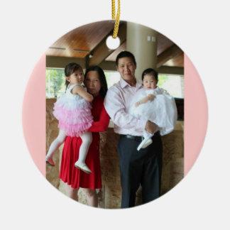 Dominic and Family Ceramic Ornament
