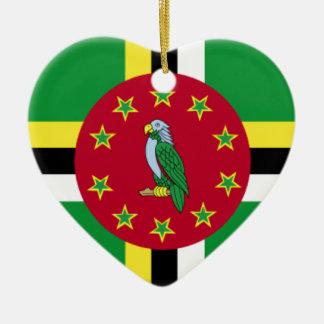 Dominica Ceramic Heart Ornament
