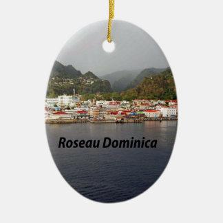 Dominica Ceramic Oval Ornament