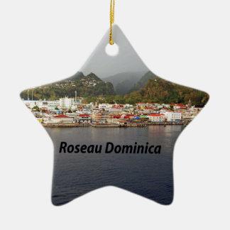 Dominica Ceramic Star Ornament