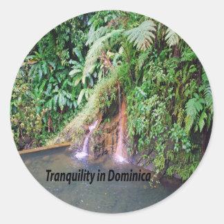 Dominica Classic Round Sticker