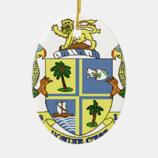 Dominica Coat of Arms Ceramic Oval Ornament