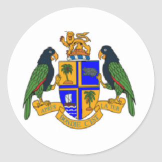 Dominica coat of arms round sticker