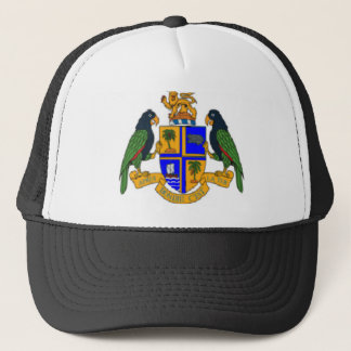 Dominica coat of arms trucker hat
