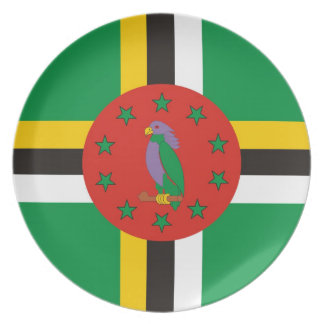 dominica country flag plate