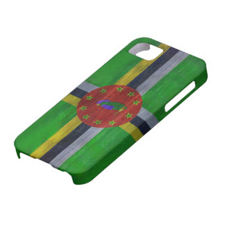 Dominica distressed flag iPhone 5 covers