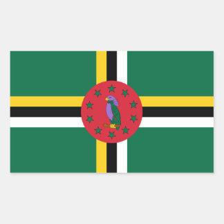 Dominica/Dominican Flag Sticker