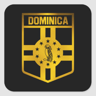 Dominica Emblem Square Sticker