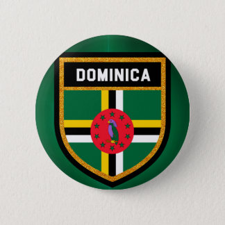 Dominica Flag 2 Inch Round Button
