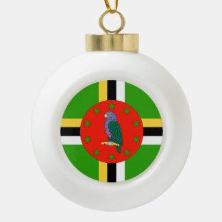 Dominica Flag Ceramic Ball Ornament