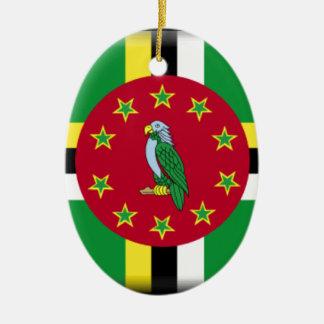 Dominica Flag Ceramic Oval Ornament