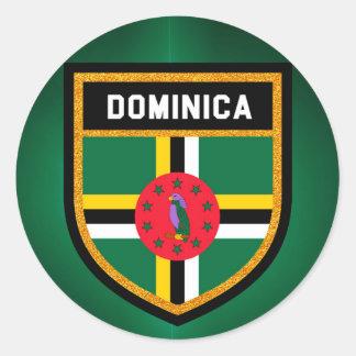Dominica Flag Classic Round Sticker