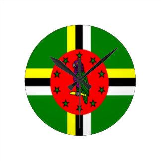 dominica flag clock