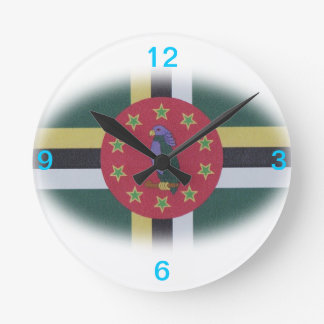 Dominica flag clock