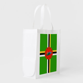 Dominica Flag Grocery Bags