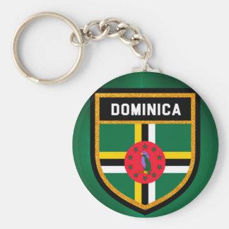 Dominica Flag Keychain