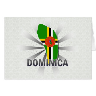 Dominica Flag Map 2.0 Card