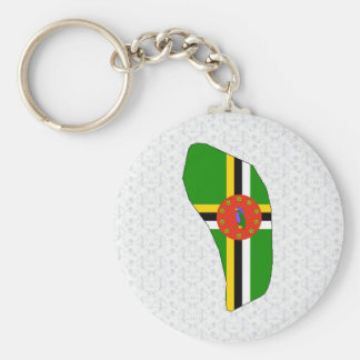 Dominica Flag Map full size Keychain