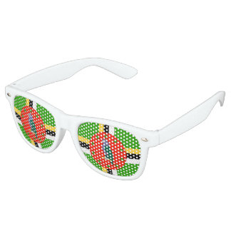 Dominica Flag Party Sunglasses