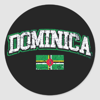 Dominica Flag Round Sticker