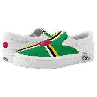 Dominica Flag Slip-On Sneakers