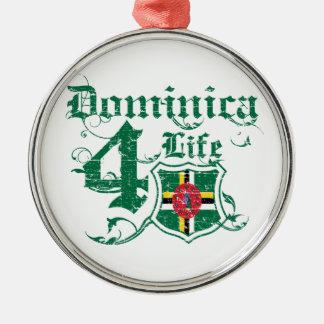 Dominica for life Silver-Colored round ornament