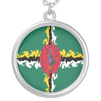 Dominica Gnarly Flag Custom Necklace
