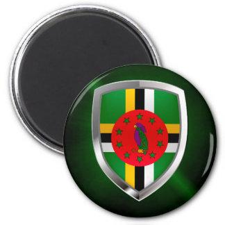 Dominica Mettalic Emblem Magnet