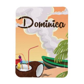 Dominica retro travel poster. magnet