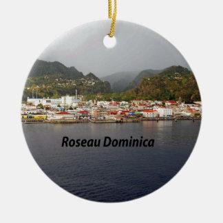 Dominica Round Ceramic Ornament