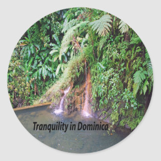Dominica Round Sticker