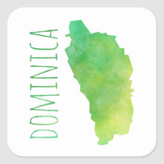 Dominica Square Sticker